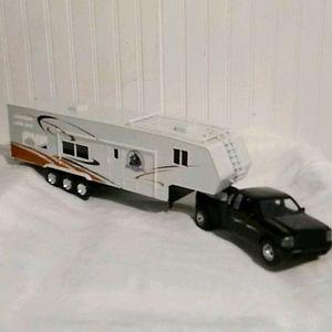 Ford Die Cast Truck & Plastic Camper